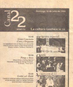 programación canal 22